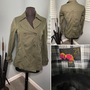 Forever 21 jacket. green size small